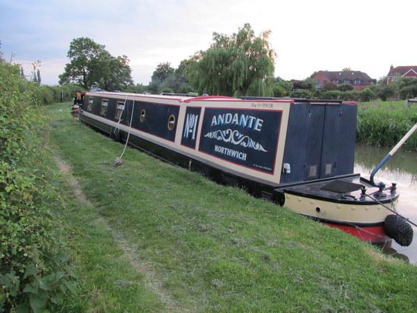 An idyllic mooring for Andante