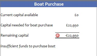 Narrowboat Budget Software - Boat Purchase