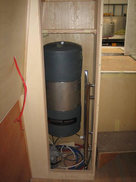 Calorifier cupboard