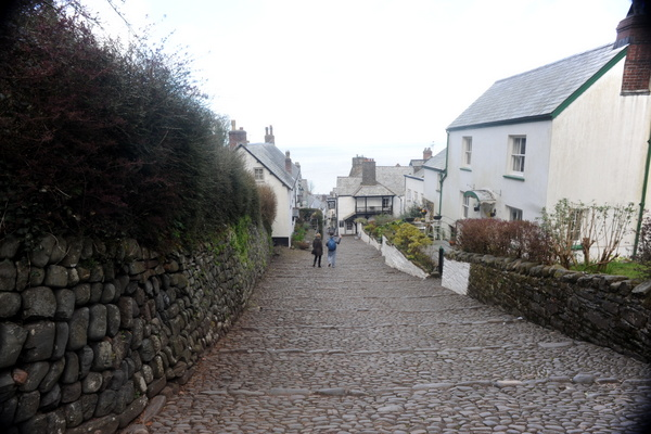 Steep cobblestones down into Clovelly