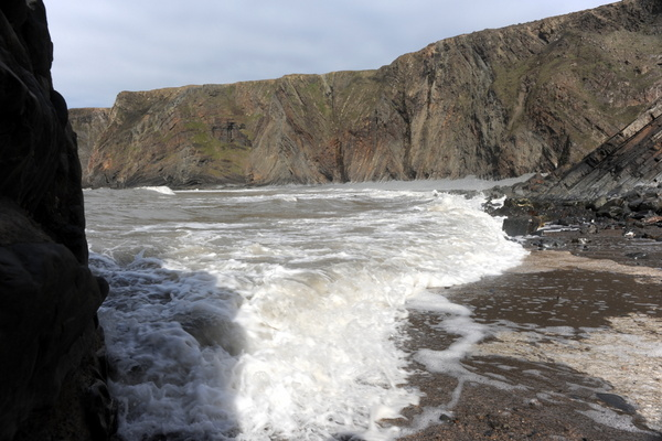 Wild waters at Hartland Quay