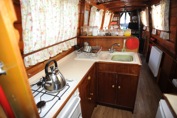 A small galley, but large enough to cook any meal
