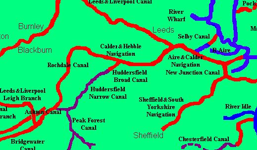 Jim Sheads Canal Map Canal Network Map