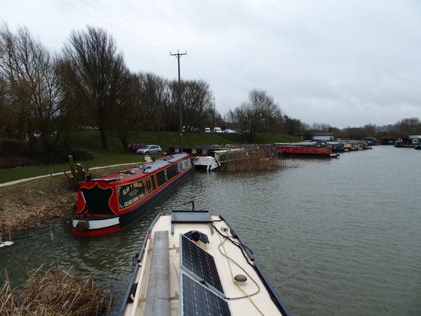 Dump barge stern view
