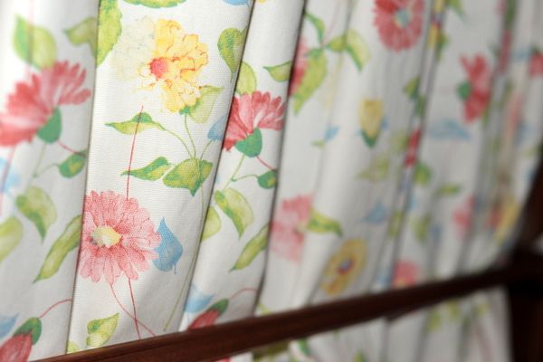 Narrowboat James new curtains