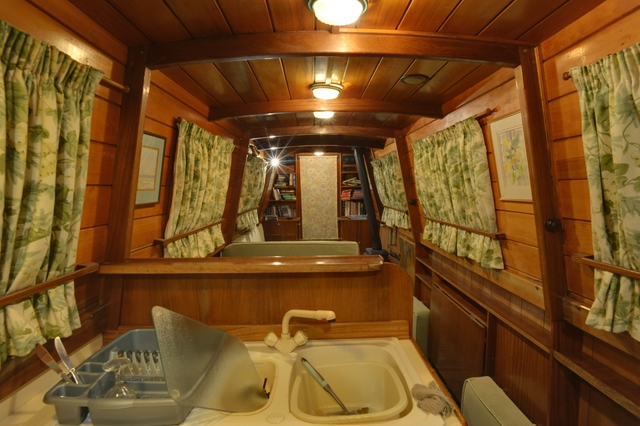 Inside narrowboat James