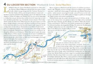 An extract of Pearson's Canal Companion for the East Midlands showing the staircase locks at Watford Gap