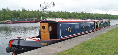 Ugly traditional narrowboat aerial