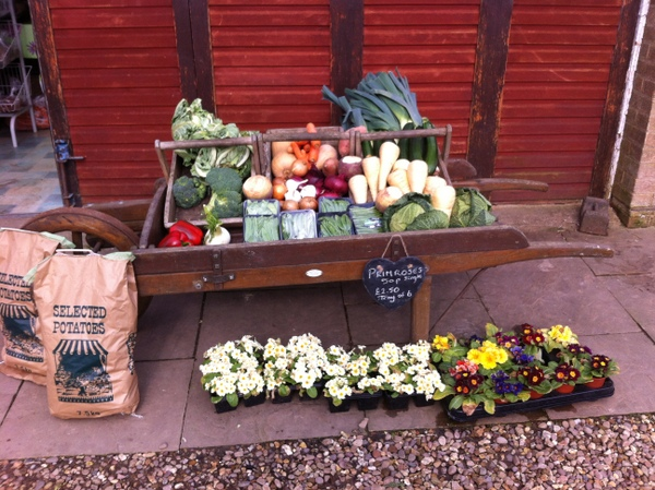 Fresh vegetables at Tomlinsons farm shop