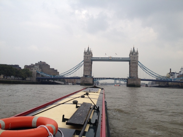 Eleftheria heads towards Tower Bridge