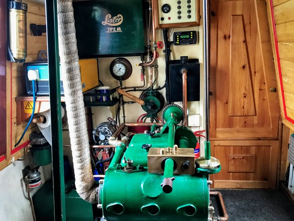 The engine and generator room