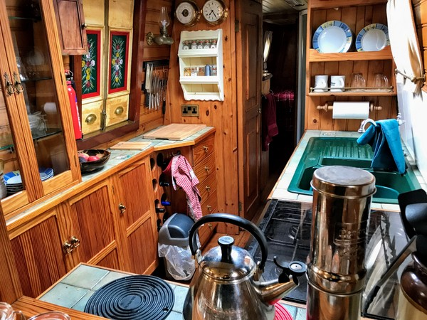 Plenty of space in the galley