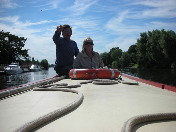 John and Annie at the helm