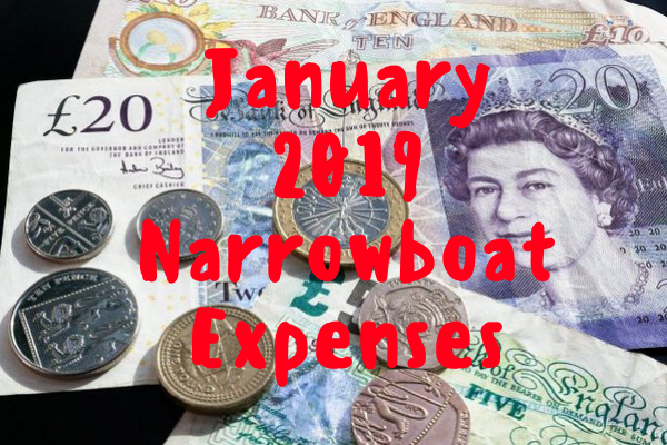 Complete narrowboat expenses for January 2019
