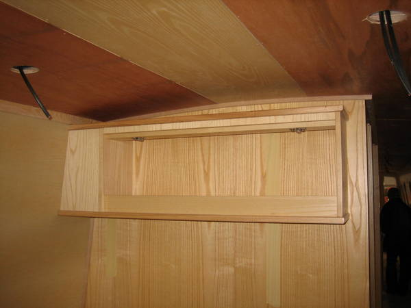 Cupboard over bed-head