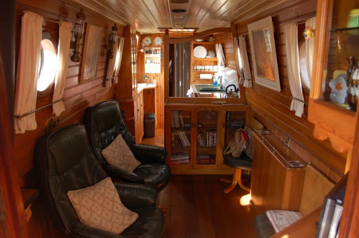 Our cosy floating home. Maybe you'll have one just like this soon.