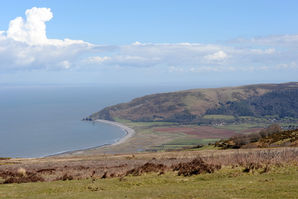 The view over Porlock Bay as we plan our route