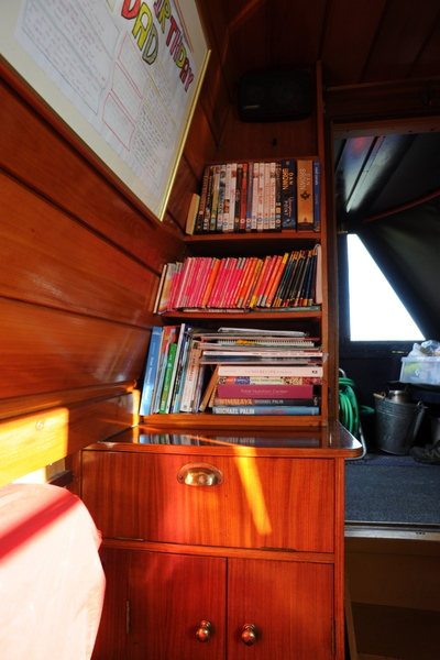 All my reference books and DVDs are easily accessible