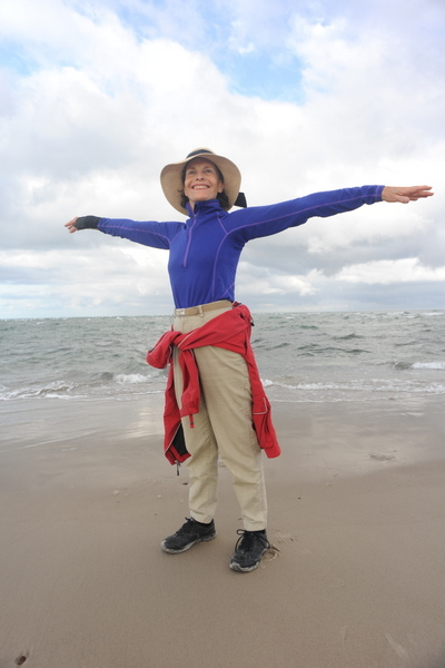 Cynthia straddles two oceans