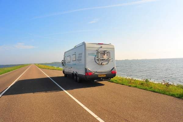 We stopped overnight on this causeway near Marken
