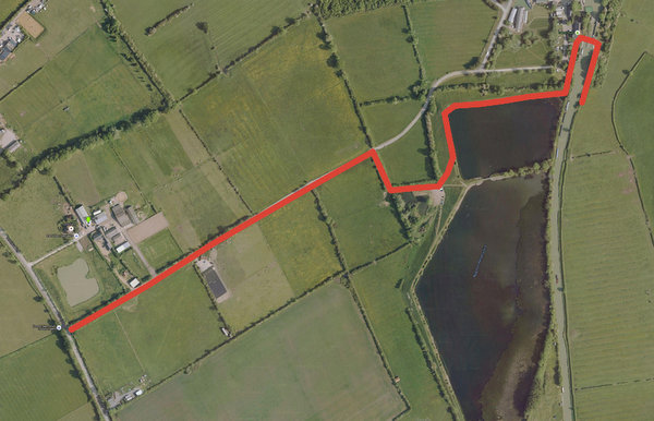 Directions from Tomlow Rd to my mooring above Calcutt Top Lock