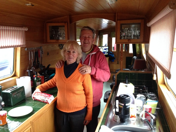 John and Brenda Rogers in The Lady Cs galley
