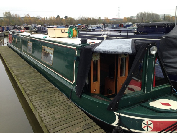 The Lady C on a marina mooring