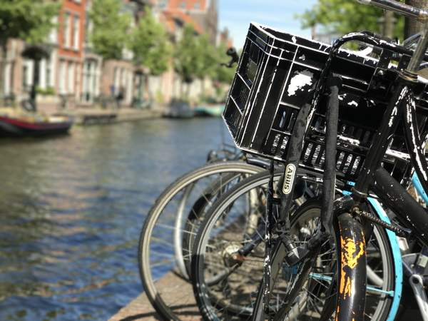 A typical Leiden canal walk - Great for taking my mind off solar panels