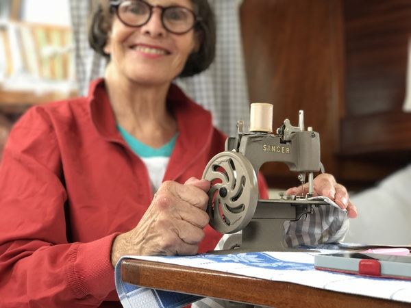 The perfect sewing machine for a small boat