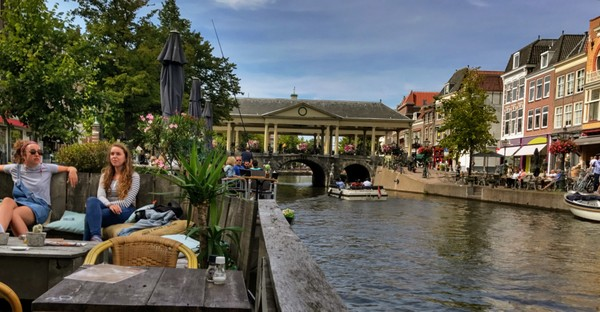 Dutch canalside dining