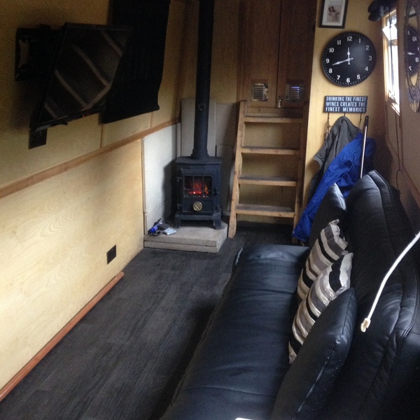 A solid fuel stove is essential on any live aboard narrowboat