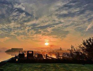 Tattenhall marina on a frosty November morning
