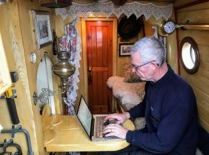Orient's boatman's cabin - A very cosy place to work on a cold winter's day.
