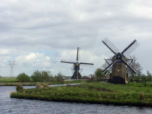 Two of the many windmills on our route