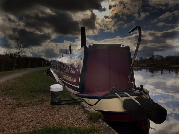 Moored for a day on the water point below the Knowle flight
