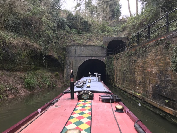 Two tunnels at Shrewley, one for boats, one for pedestrians