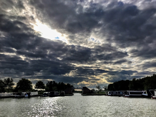 Another dramatic sky over Calcutt Boats