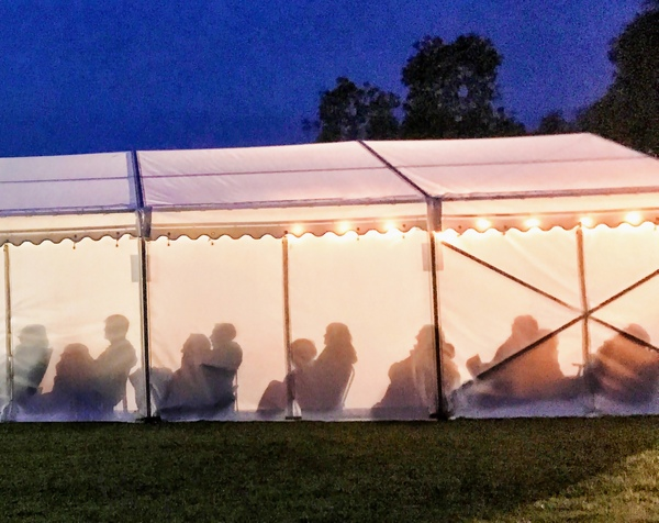 After a bottle (or two) of wine I was very pleased with this shot of the Redcoats audience