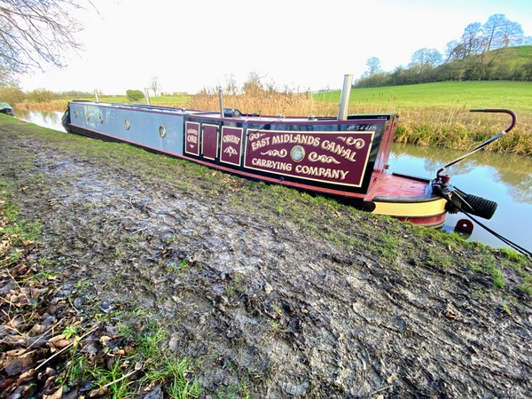 A muddy mooring at Cracks Hill