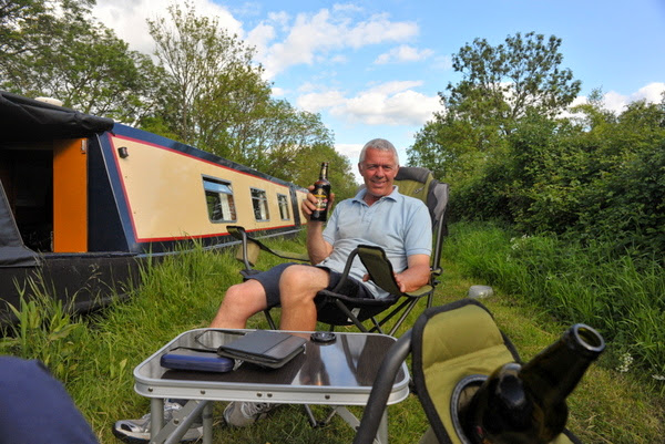 Enjoying life afloat on my first narrowboat James in 2013