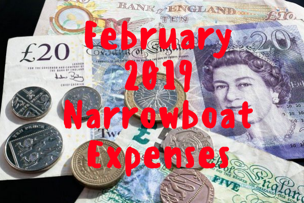 Narrowboat Expenses February 2019