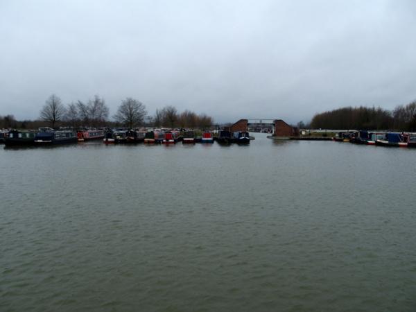 Dump barge port side view