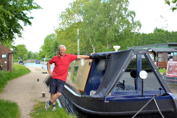 Paul Smith with narrowboat James at the end of the Ashby canal