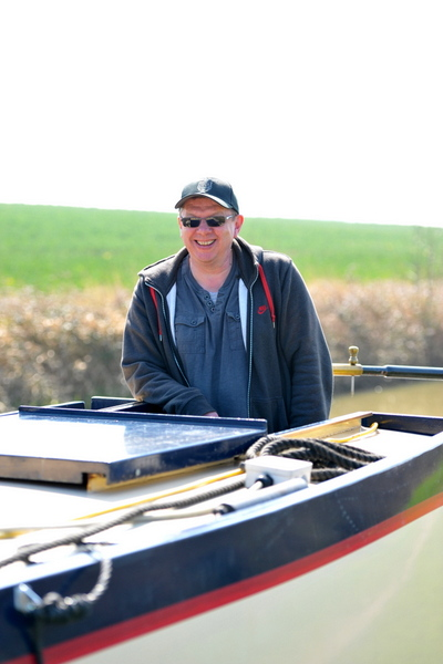 Chris Cole on his narrowboat discovery day