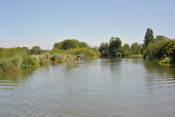 The empty Thames soon after joining the river from Duke's Cut