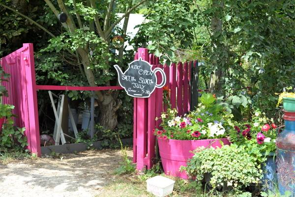 The entrance to Jane's 'Enchanted Tea Garden