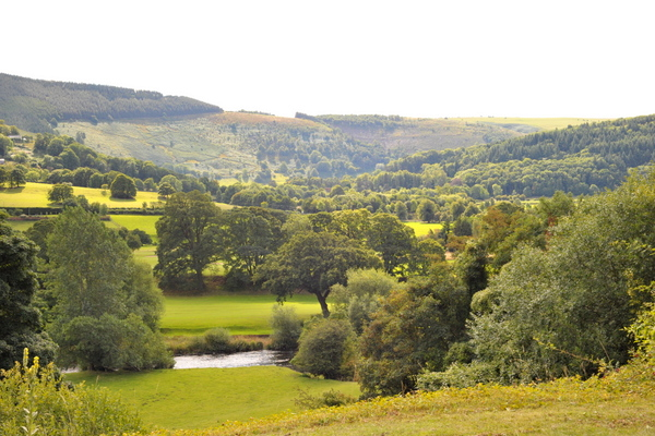 Stunning view across the Vale of Llangollen