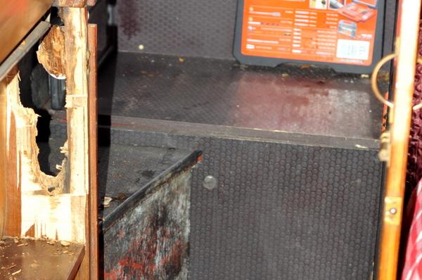 Water damaged door frame