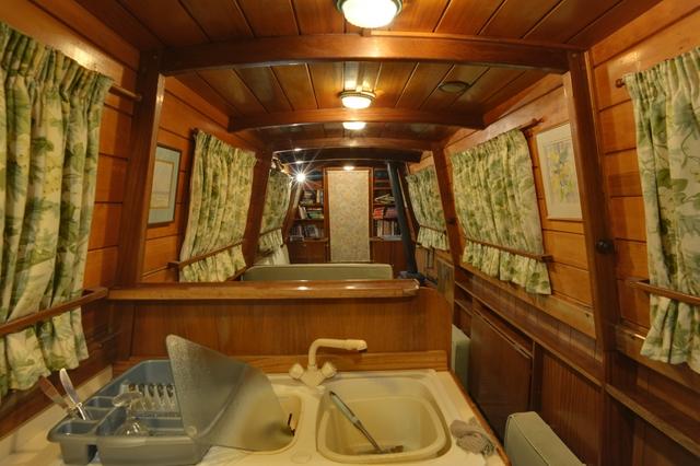 Inside narrowboat James