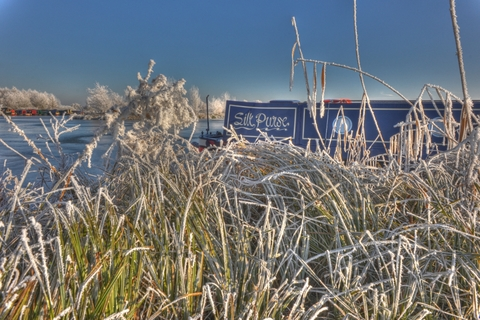 Calcutt Boats Meadows Marina In The Winter